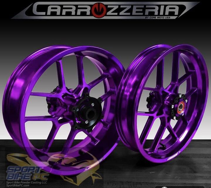 Carrozzeria V Track Forged Wheel Sets Sport Bike Powder