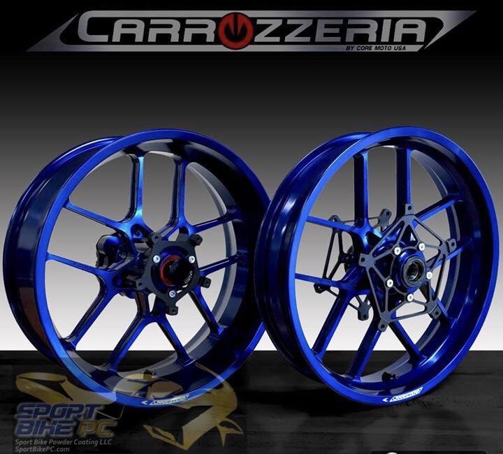 Carrozzeria V Track Forged Wheel Sets Sport Bike Powder